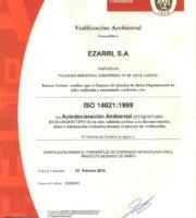 """Cертификат """"Ezarri"""" 1999"""