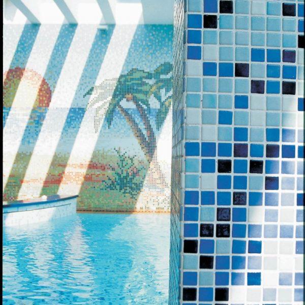 Стеклянная мозаичная растяжка Ezarri Azul рис. 10