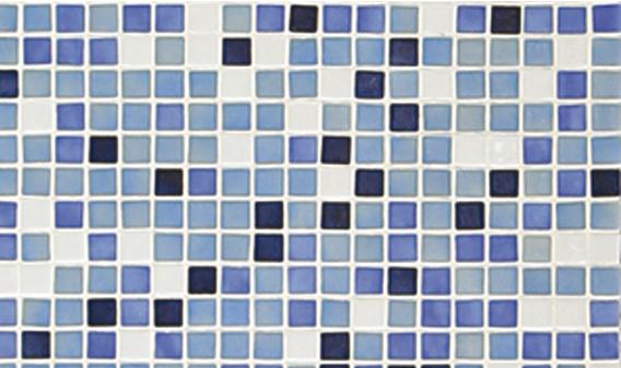 Стеклянная мозаичная растяжка Ezarri Azul №4