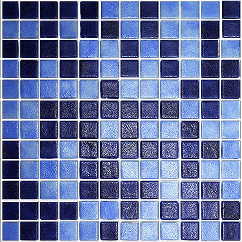 2577с anti стеклянная мозаика от Ezarri синего цвета